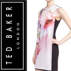 🍃🖤New Ted Baker Millisa Floral Mini Shift Dress